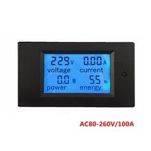 5pcs/lot Digital AC Voltage Meters 100A/80~260V Power Energy analog Voltmeter Ammeter watt current Amps Volt meter LED Panel Mon(China (Mainland))