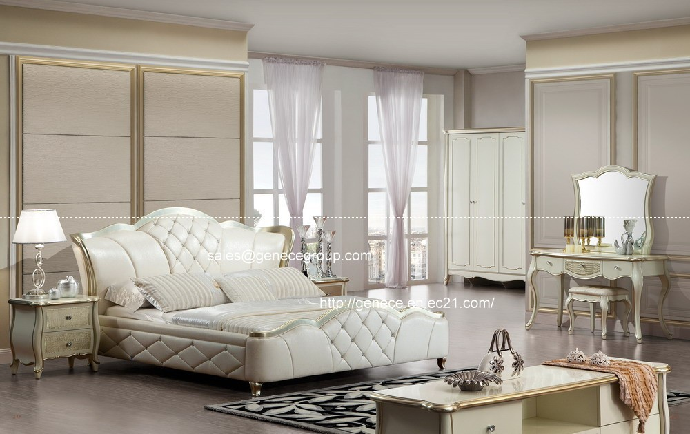 picture about luxury silver foil solid wood bedroom furniture set