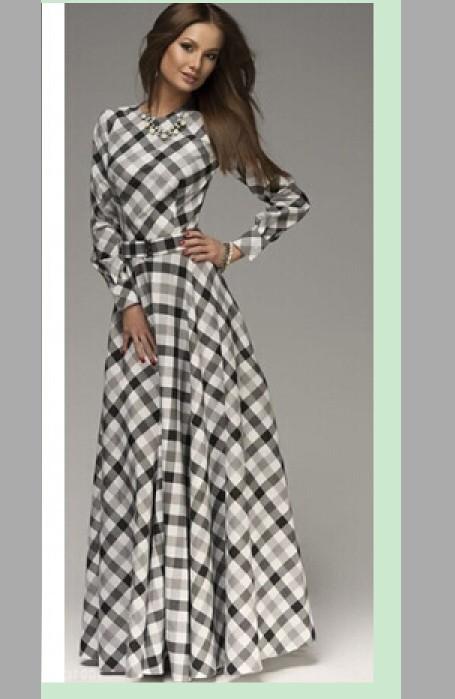 2015 long dress women fashion causal dinner lady dress summer party club clothing grey plus size M L XL XXL free ship #E153(China (Mainland))