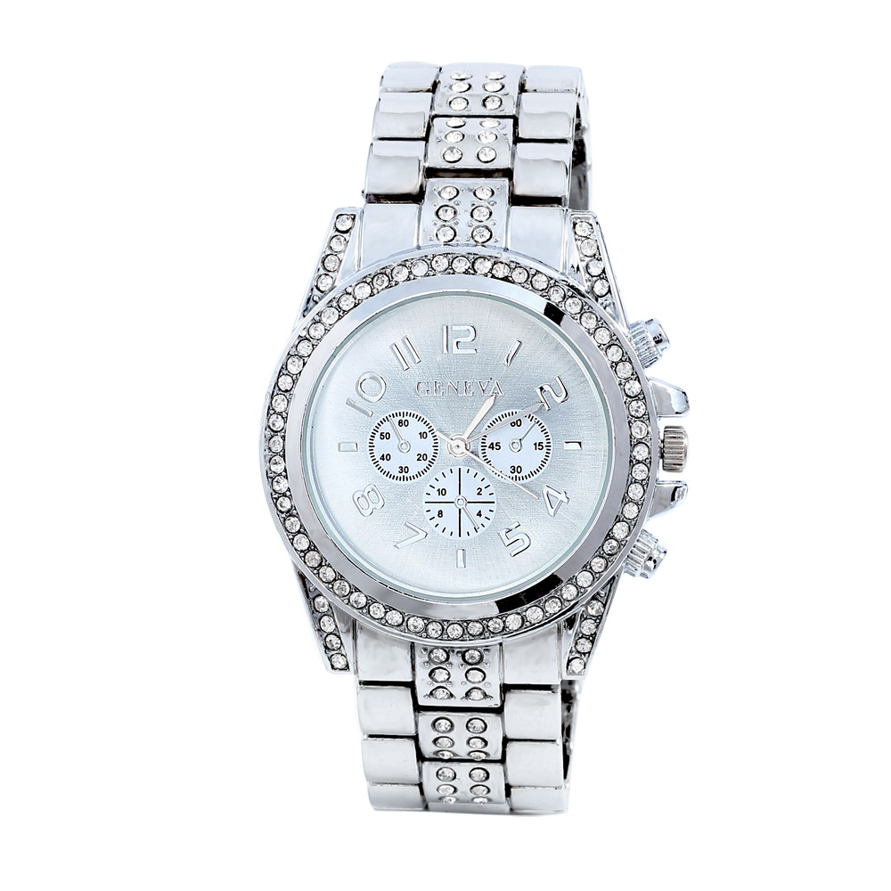 2016 hot sale gold sliver three colors luxury watches Gold Plated classic elegant Crystal Diamond wrist watch(China (Mainland))