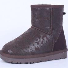 Otoño Invierno Moda Mujeres Calientes de la Nieve Patea Los Zapatos de Piel Mitation GenuineI Señora Short Boots Casual hombres Mocasines Zapatos de la Bota de Nieve(China (Mainland))