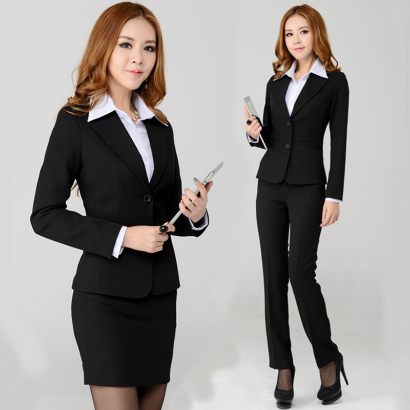 Formal Business Professional Clothes Blazer Women Work Suits Ladies Office Uniform Styles New 2015 Autumn Winter - 24mall Online Store store