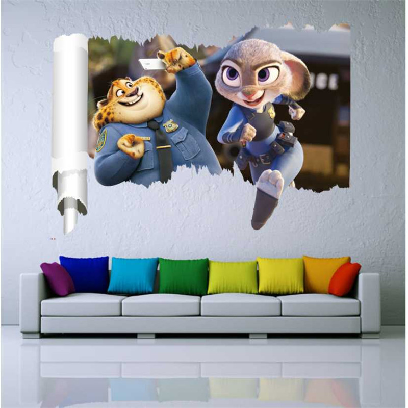 Buy 3d stereoscopic movie crazy animal for Crazy bedroom wall designs