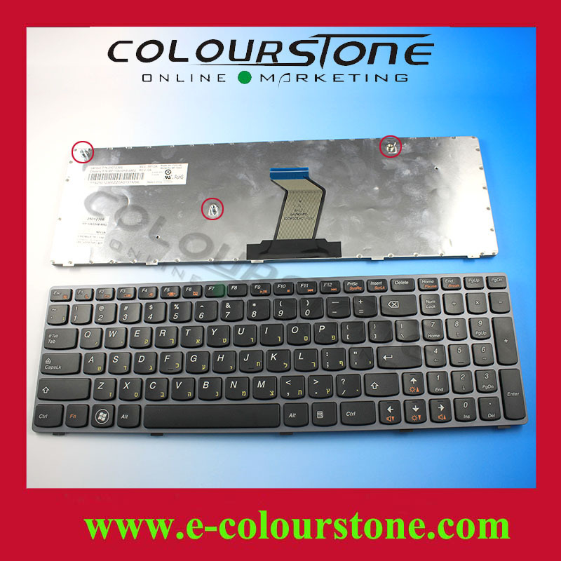 Russian layout keyboard for Lenovo V570 B570 Z570 series black with grey frame NOTEBOOK KEYBOARD(China (Mainland))