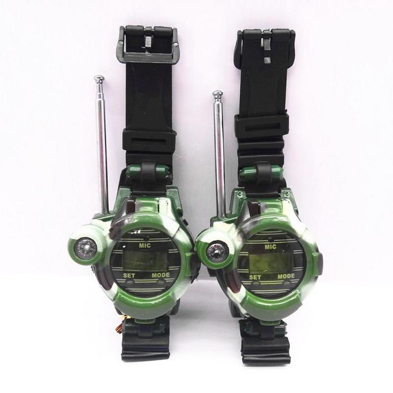 1 Pair 100~100M Watches Walkie Talkie 7 in 1 children watch walkie talkie camouflage style(China (Mainland))
