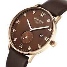 Fashion watches men luxury brand analog sports watch Top quality diamond quartz military watch men leather bracelet watches