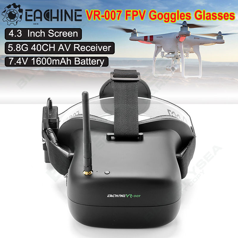 Free shipping!EACHINE VR-007 5.8G 40CH HD FPV VR Goggles Video Glasses 4.3 Inch