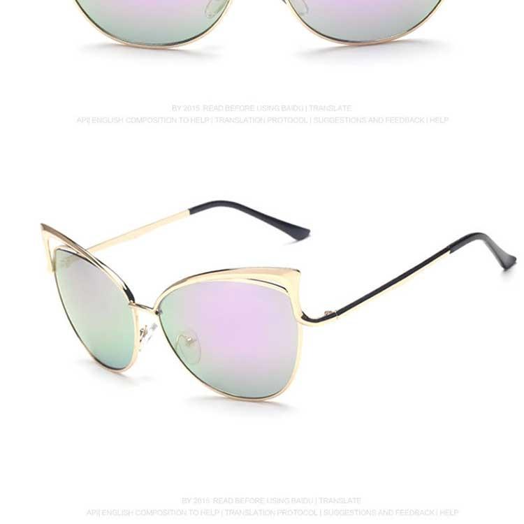 Woman Sunglasses Polarized uv 400 Cat eye 2016 For Ladies Designer Sun glasses 2016 High Quality Mirror Gold