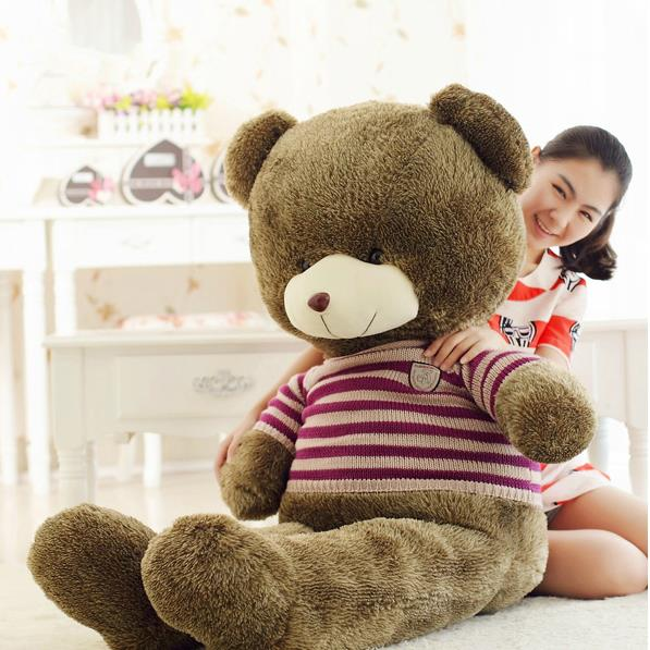 7# 180CM Kawaii giant Teddy bear classic toys plush dolls for girls stuffed animals kids toys gifts dolls for girls(China (Mainland))