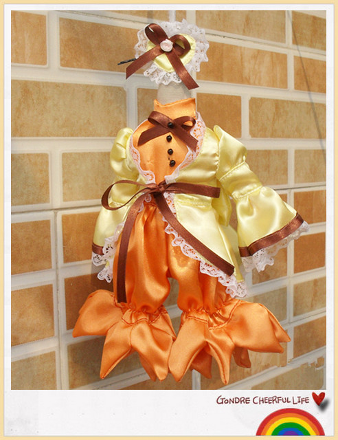 Bjd baby clothes 6 yosd anime clothing canary jumpsuit set<br><br>Aliexpress