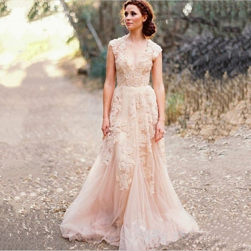 Popular boho wedding dress buy cheap boho wedding dress Hippie vintage wedding dresses
