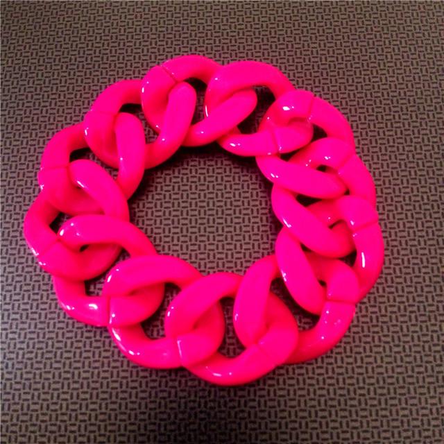 New Styles Women's Hip Hop Punk Jewelry Fashion Bracelet Chain Singer Accessories Neon Bracelets 3.5cm*21cm