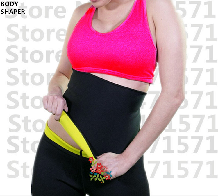 Top fashion super stretch neoprene shaper sauna slimming abdomen belly belt Fit Sweat Shaper Body magic girdle Size S/M/L/XL
