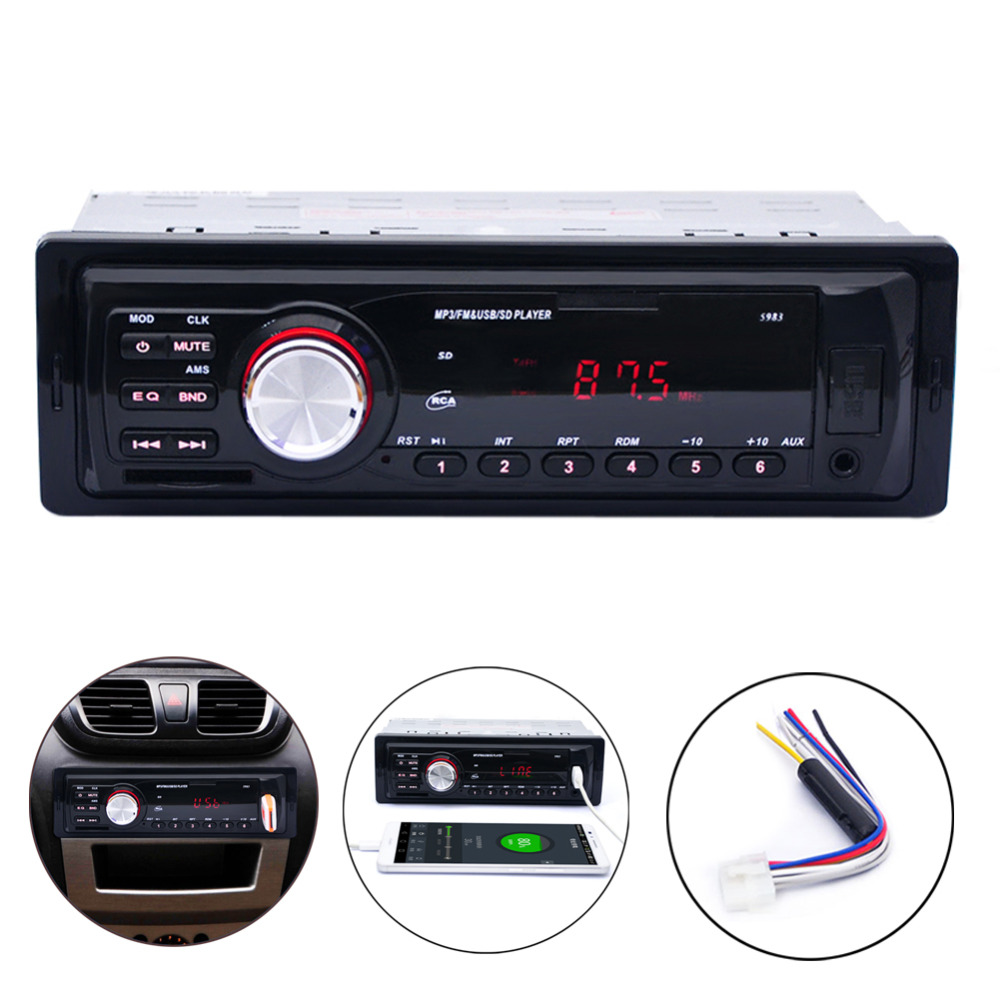 Hot Sale 1 DIN 12V Car Mp3 Radio player Stereo In-Dash FM stereo Radio AUX/SD/USB Port Car Electronics High quality(China (Mainland))