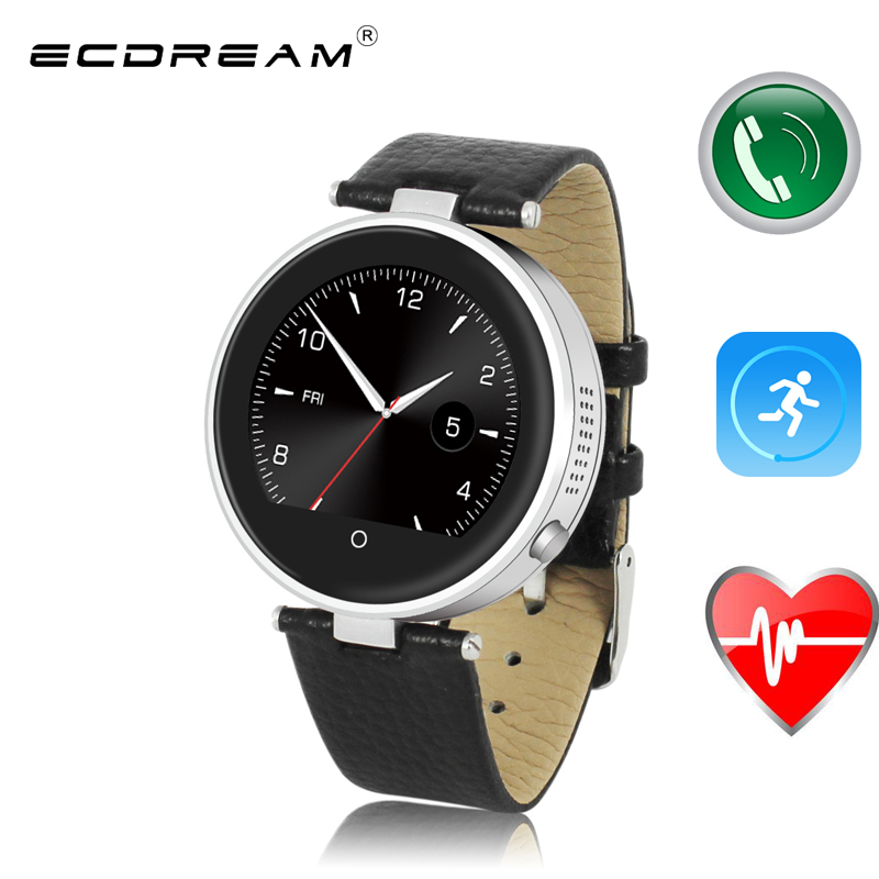 Fashion smart watch sync phone call hear rate monitor ...