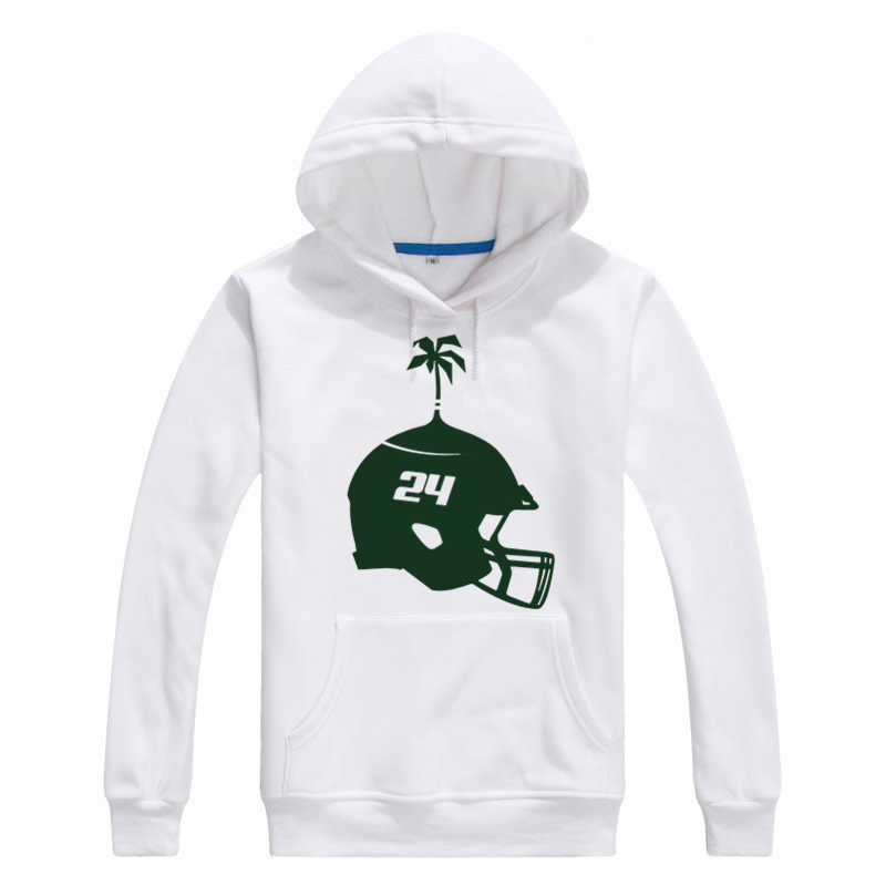 2017 Autumn Winter New York #24 Darrelle Revis Logo Men Hoodies Sweatshirts Pullovers Lace-up Jets helmet Logo Mark W1030003(China (Mainland))