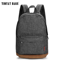 TINYAT Men school bags backpack student bag college high school bags for teenagers canvas travel bag laptop backpack T101 Gray(China (Mainland))