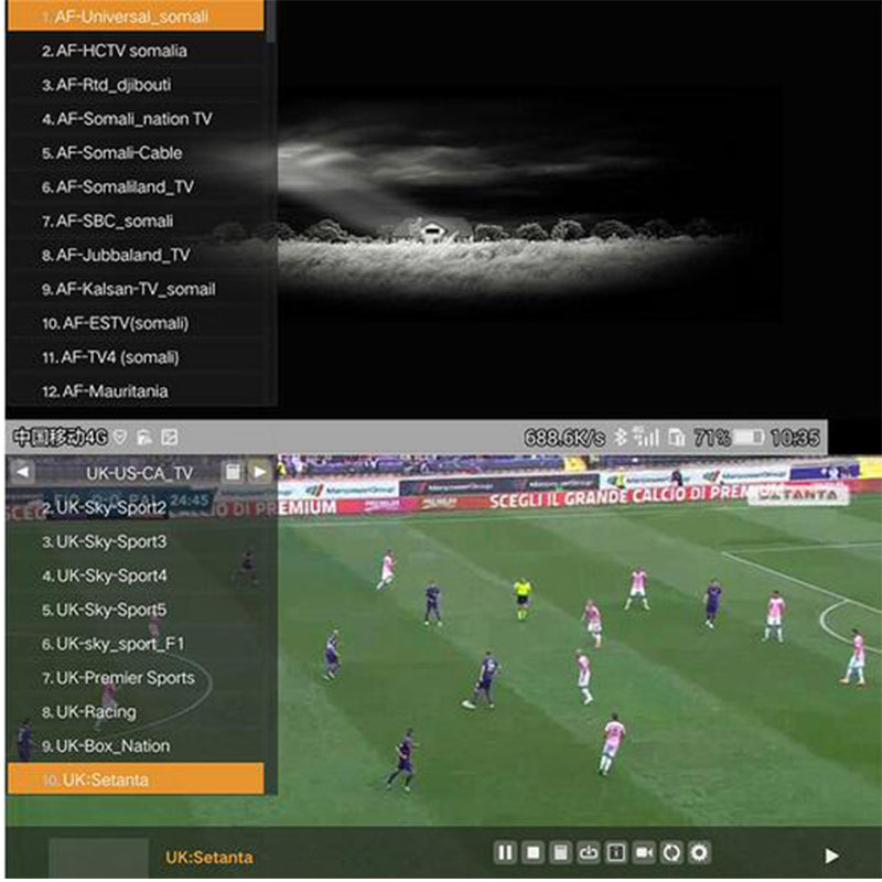 1 year arabic french iptv account italy for 12 months sky Italy 900+free sport channels Canal Plus for android TV box  Set Top