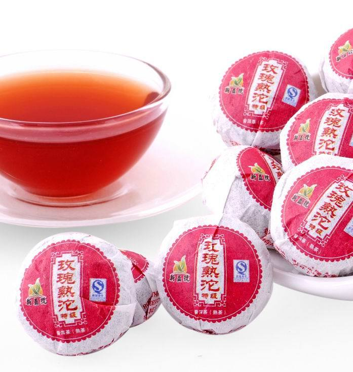Menghai Rose Flavor Mini Ripe Puer Tea Chinese Tea Is Women S Weight Lose Health Care