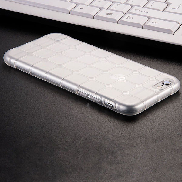 Unique Grid Silicone TPU Soft Case For Iphone 6 6S 4.7 Clear Transparent Back Protective Cover Shell For Iphone 6S Plus 5.5