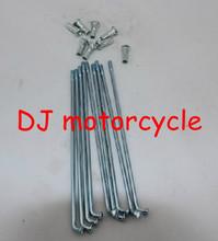 "Spokes Assembly for 14"" Rim Wheel SSR SDG 125 Dirt Bike Motorcycle Motocross rim spoke wholesale Cheap pit bike spoke steel(China (Mainland))"