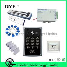 F007 alone ID zugangskontrolle einzelne tür system + 350 £ 180 KG magnetverschluss + netzteil + exit-taste + ID schlüsselanhänger/karte(China (Mainland))
