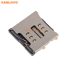 15 PCS/Lot Sim Card Connector Reader Tray Socket for iPhone 4 4S Replacement Parts(China (Mainland))