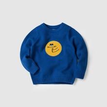Мини-балабала 2018 года, осенне-зимний свитер для маленьких мальчиков и девочек, толстый винтажный вязаный свитер с героями мультфильмов для ...(China)