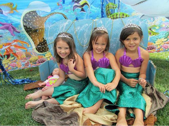 The New Childrens Swimwear Swimsuit Mermaid Swimsuits Shells Burst Models<br><br>Aliexpress