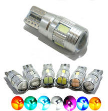 2X T10 501 194 168 W5W 6 LED 5630 SMD Canbus Error Free 3W 6 colors 12V Car parking light Clearance Lights Auto Car Lights(China (Mainland))