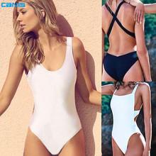 2016 hot sale bodysuit Sexy high cut one piece swimsuit Backless Swimwear Women Bathing suit Beachwear Monokini Bathingsuit