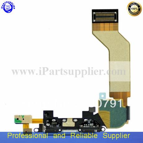 100% gurantee original Dock connector charging port flex cable iPhone 4S black white - iPartsupplier Ltd store