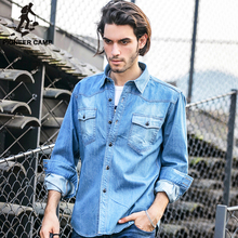 Buy Pioneer Camp Light Blue Denim Shirt Men 100% Cotton Thick Male Denim Shirt Men Shirt Long Sleeve cool Brand Clothing 325211 for $24.28 in AliExpress store