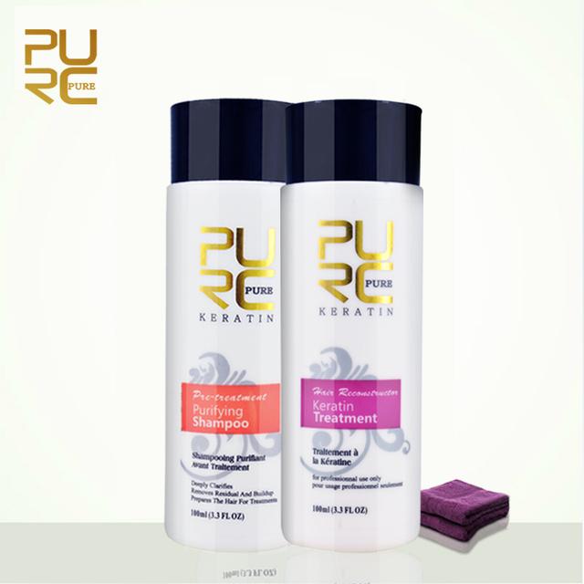 Purc 5% формалина кератина и очищающий шампунь комплект для ухода за сделать волосы ...