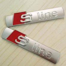 New Automobiles 3D Metal Car Sticker Sline Sticker Car Covers  for Audi A3 A4 A5 A6 Q3 Q5 Q7 Decal Accessories Sline Car Styling