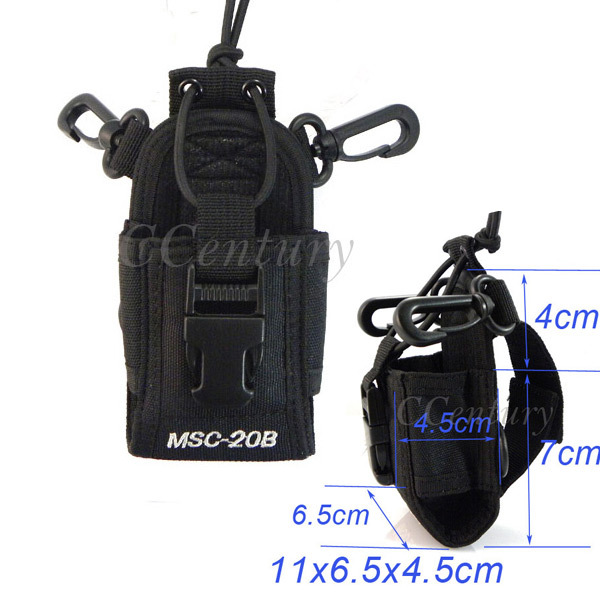 2pcs MSC-20B Portable Radio Case for Baofeng CB Radio UV-5R UV-5RE Plus UV-5RA Plus Yaesu Vextex Icom CB Transceiver TYT TH-F8(China (Mainland))