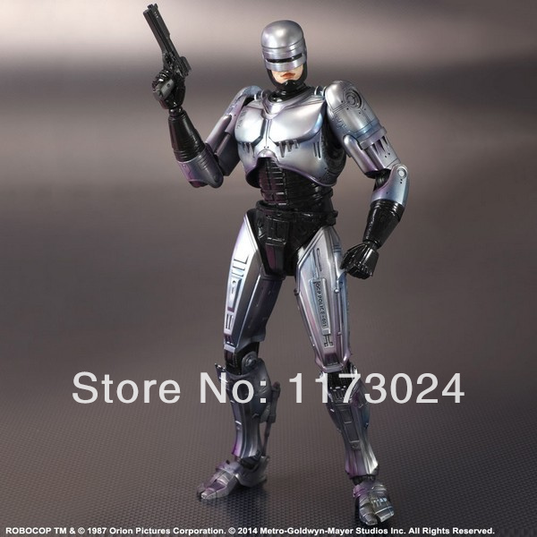 Famous Classic Movie 1987 New Play Arts Kai RoboCop 24CM High Quality PVC Action Figure Toys New In Box(China (Mainland))