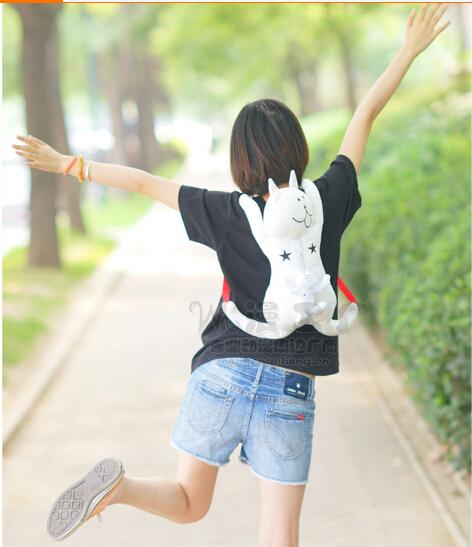 Wholesale 1pcs/lot FuyuuNeko White Cat Cute Plush Doll Backpack Anime Bag 40cm(China (Mainland))