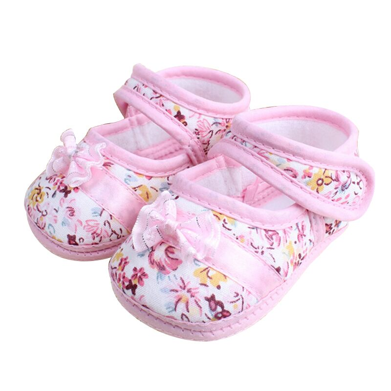 Spring Autumn Children Footwear First Walkers Infant Leisure Walking Shoe Girls flowers Bow Baby Toddler Shoes 11cm 12cm 13cm(China (Mainland))