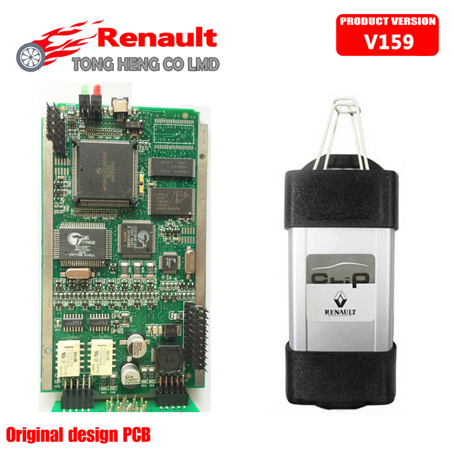 2016 newest OBD2 Auto Diagnostic Interface for Renault Can Clip V159 With Full Chip Newest Software Free Shipping