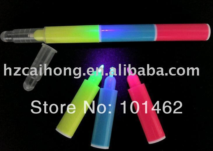UV Marker Pen --  CH-6009,novelty and magical invisible uv pen,SHOW 3 different UV active color to black light --free shipping<br><br>Aliexpress