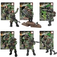 Série militar super-herói homem de ferro das nações unidas força de manutenção da paz soldado figuras blocos de construção brinquedos para crianças presentes(China)