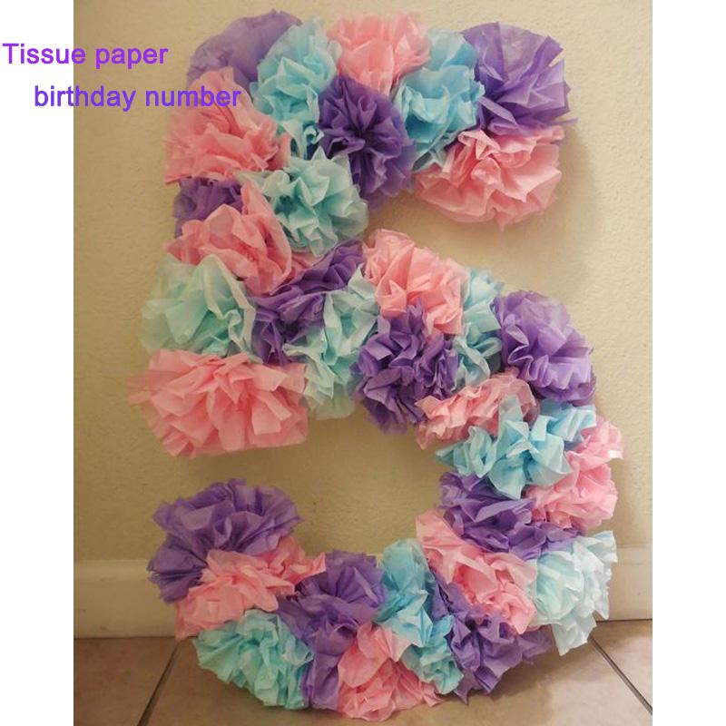 Pom Poms 1pcs 20cm 25cm 30cm Tissue Paper Artificial Flower Ball Wedding Decoration Craft Party Home
