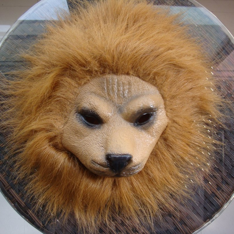 Lion mask halloween terror animal wigs fashion performance props cos - Online Store 235556 store
