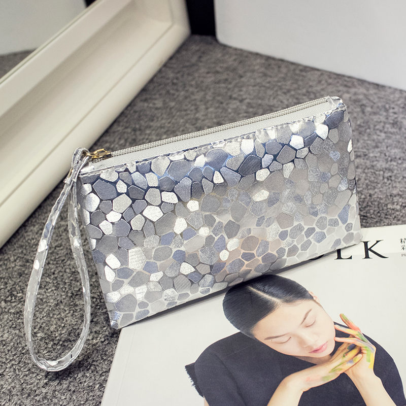 High quality Bling Stone Pattern Wallet elegant clutch purse Cell Phone Pocket Coin Purse Pocket Coin Wallet Coin Case 6 color(China (Mainland))