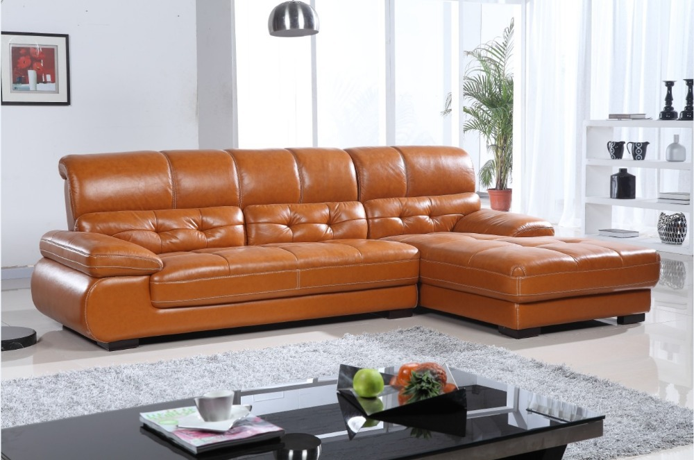 Modern Genuine Leather Sofa Set 832 In Living Room Sofas From Furniture On
