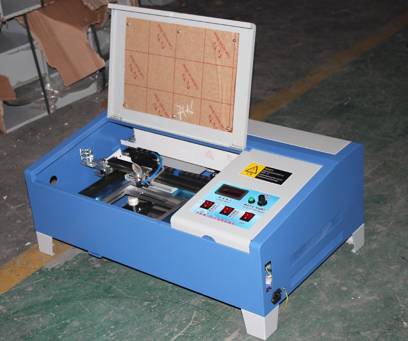 3020 40W CO2 laser carving machine with digital function and honeycomb support USB to Russia free tax