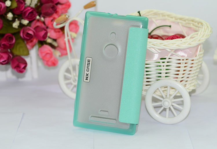 Brand NX 5 colors Environmental protection PC + PU +TPU leather case for Nokia 925 freeshipping(China (Mainland))
