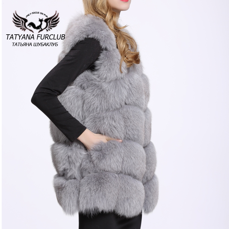 Real Fox Fur Vest Women Luxury New Best Genuine Fur Coat For Women's Real Furs Vests Fur Jacket Winter Waistcoat Gilet BF-V0061(China (Mainland))