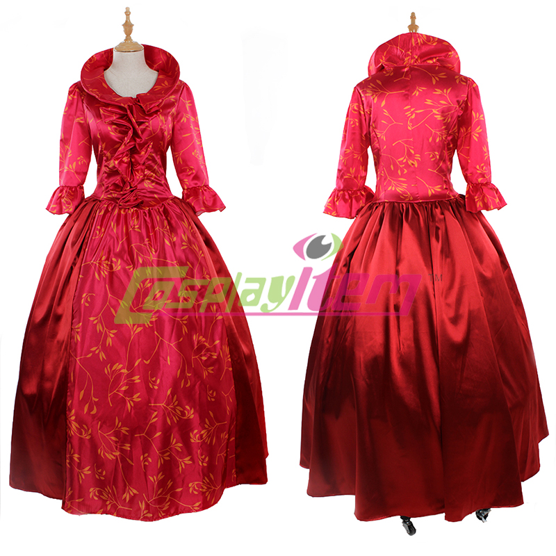 (Include petticoat )Customized red Dress Luxurious Victorian Medieval Costume Dress victorian gothic Renaissance costume(China (Mainland))